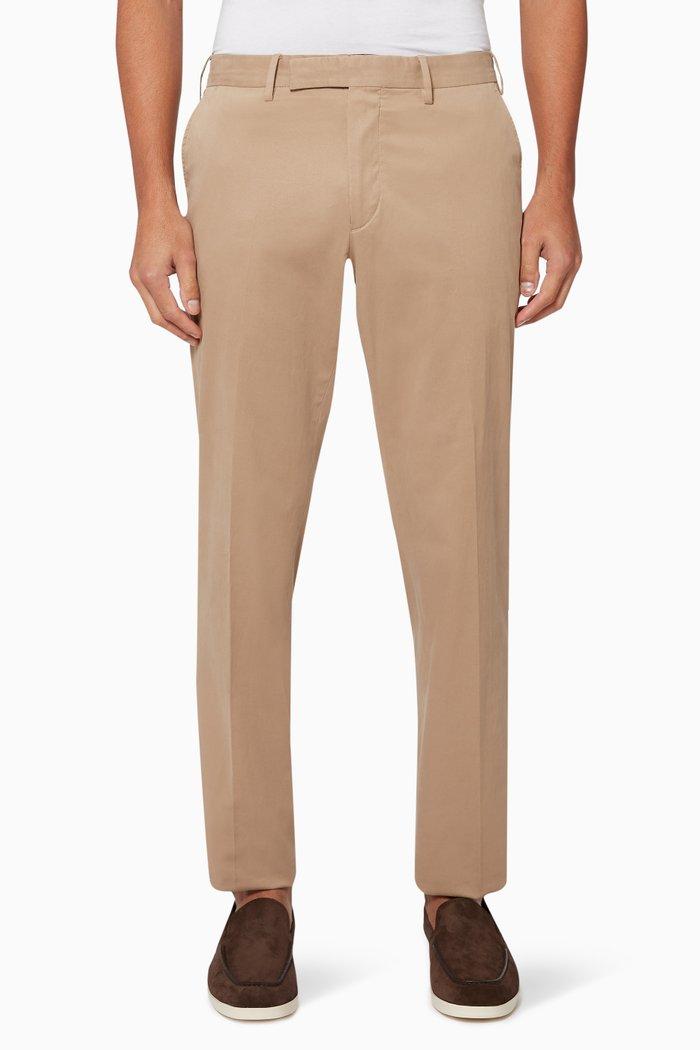 Washed Cotton Gabardine Pants