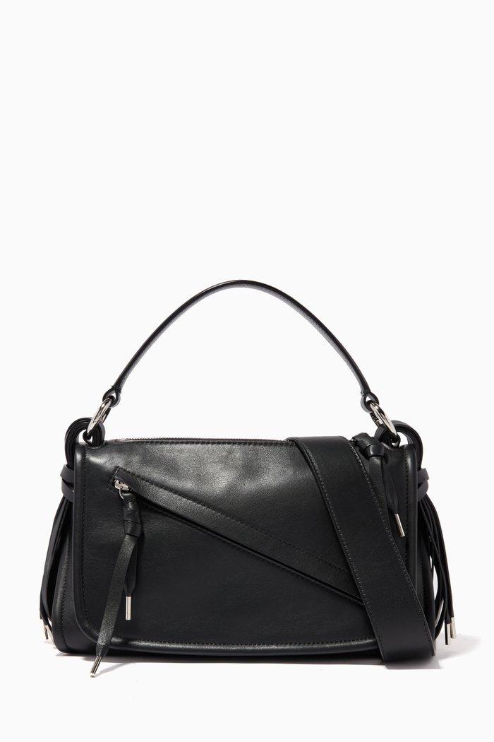 Small Kyrah Leather Top Handle Bag