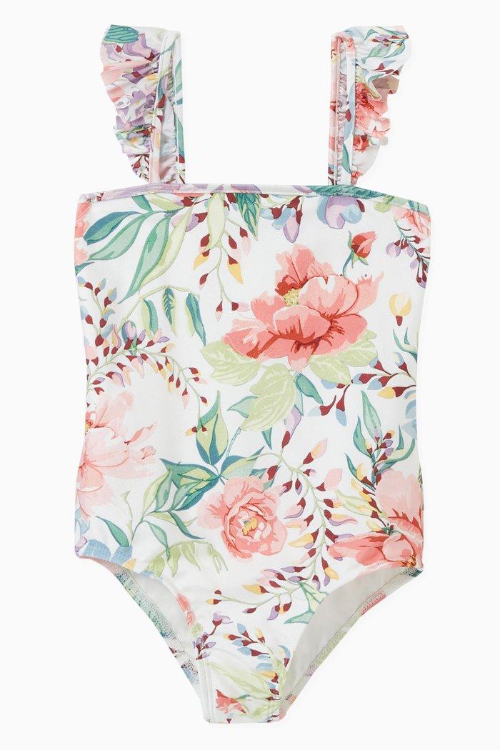 Bellitude Floral Print Swimsuit