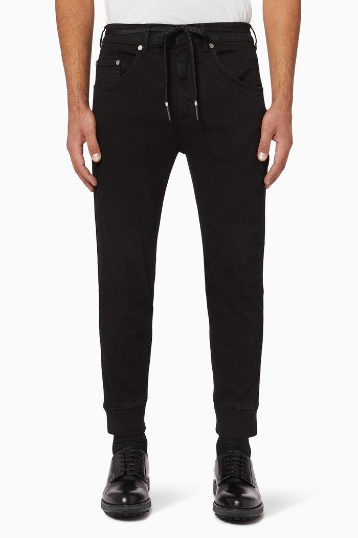Cuffed Skinny-Fit Denim Jeans