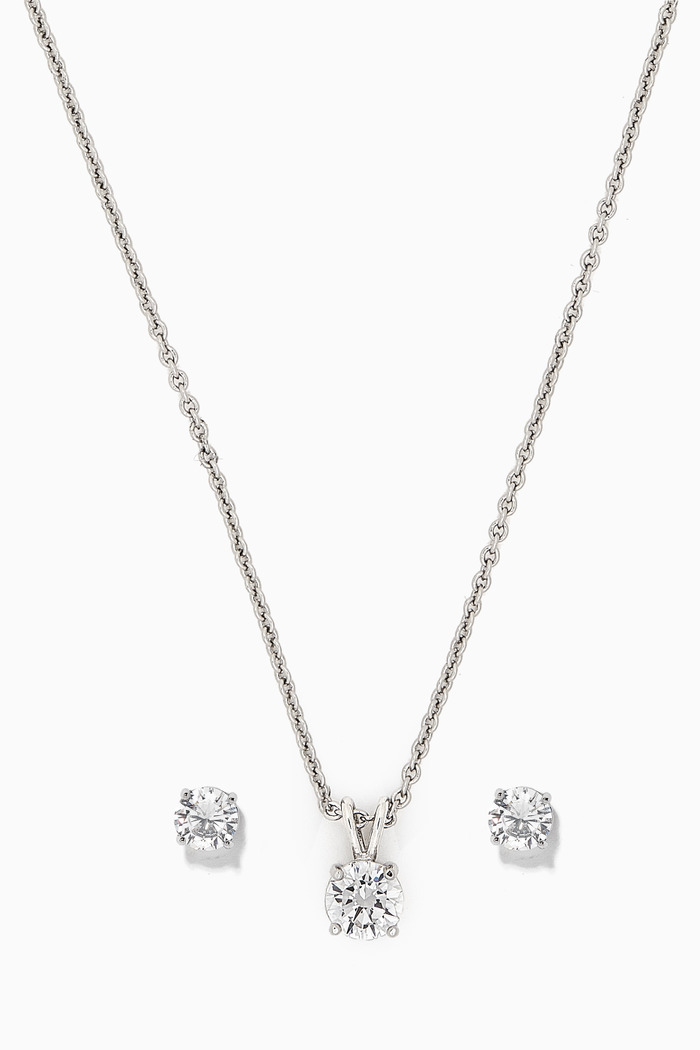 Round Earrings & Necklace Set