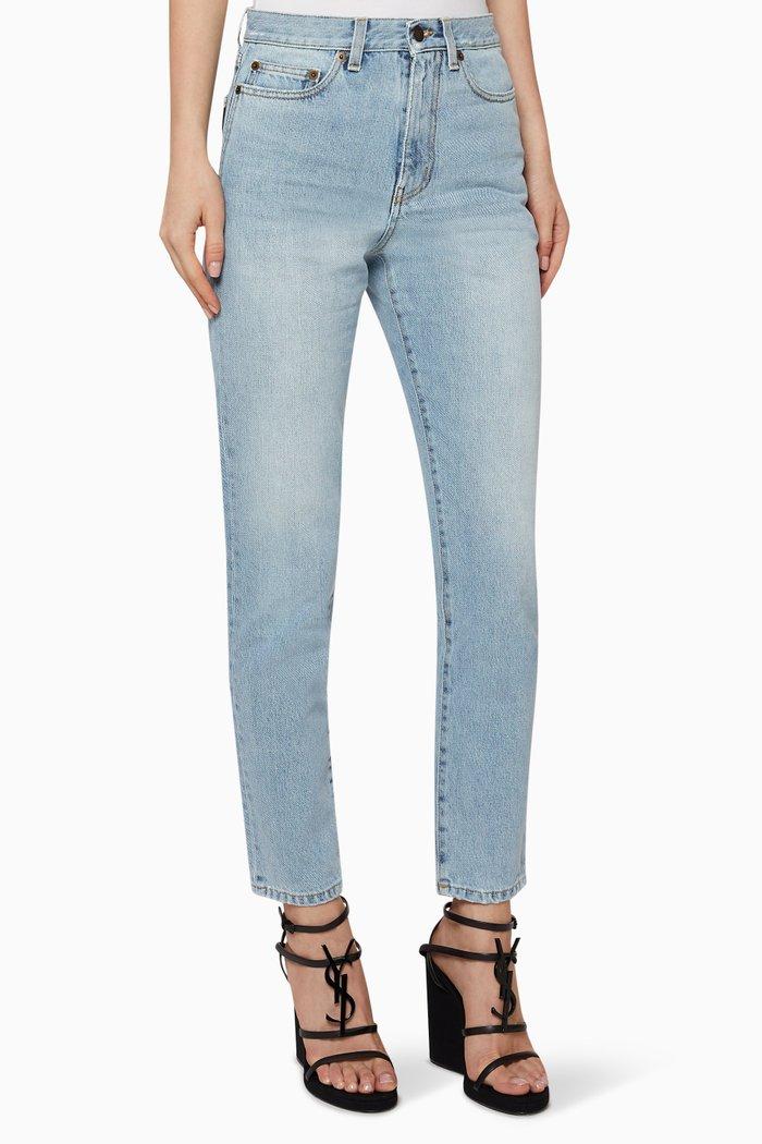 Carrot-Fit Jeans in Heavy Denim Twill