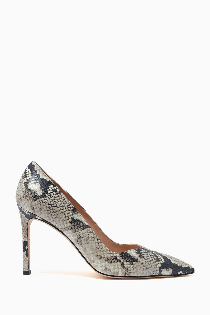 The Anny 95 Pumps in Snake Print Leather