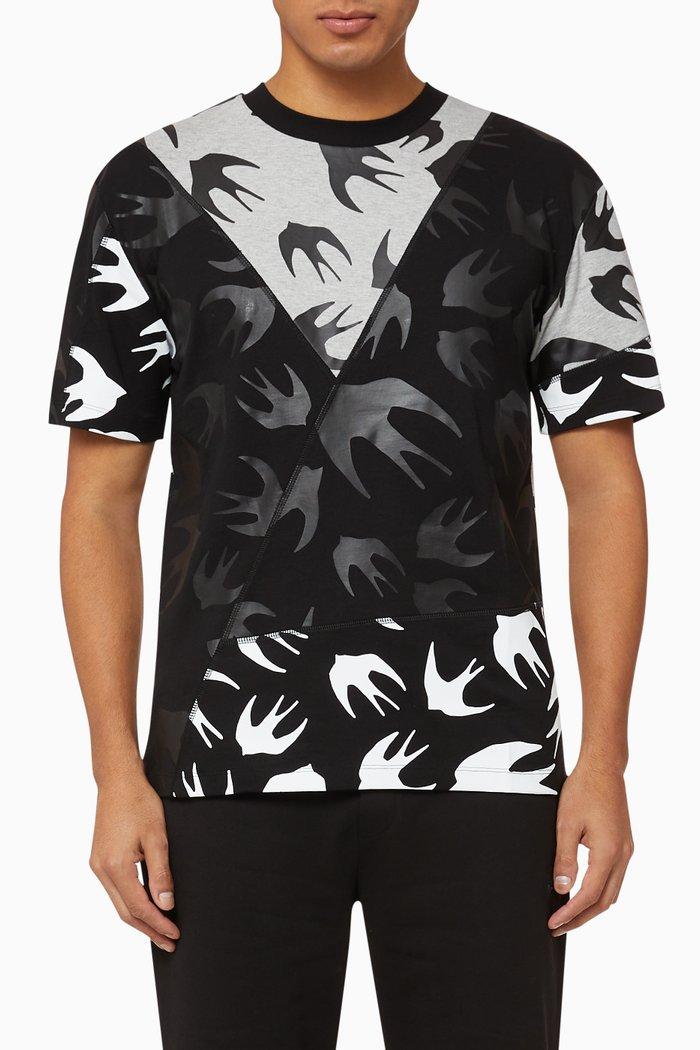 Swallow Patchwork Cotton T-Shirt
