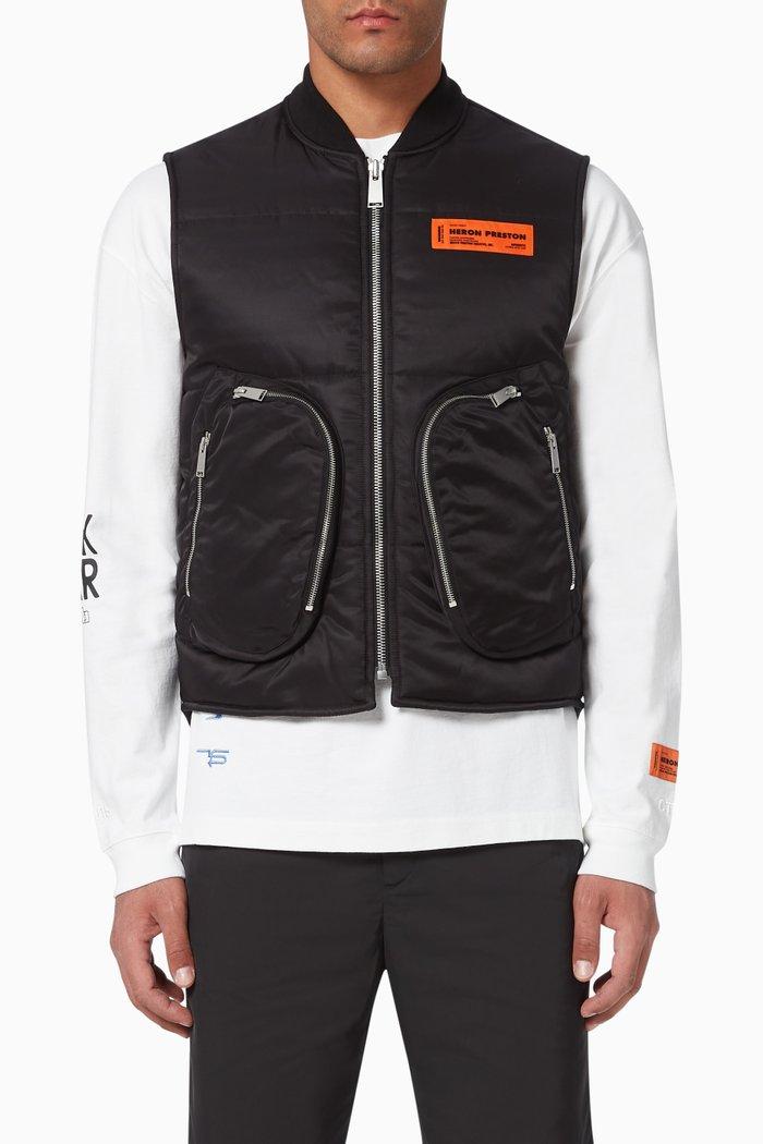 Zip-Front Nylon Vest