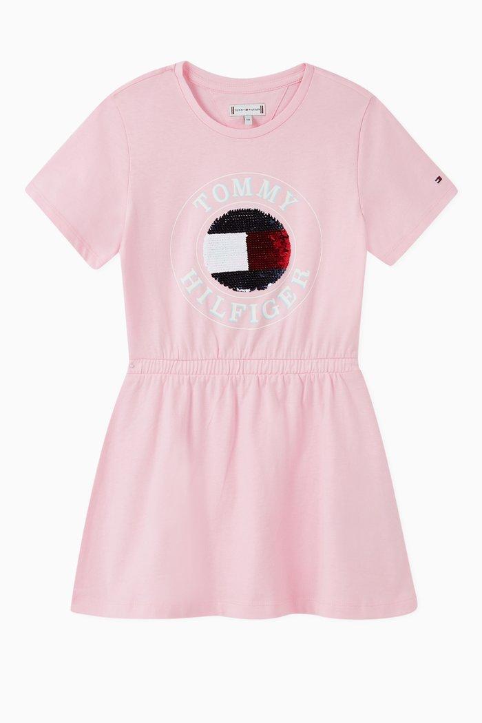 Flip Sequin Logo Dress