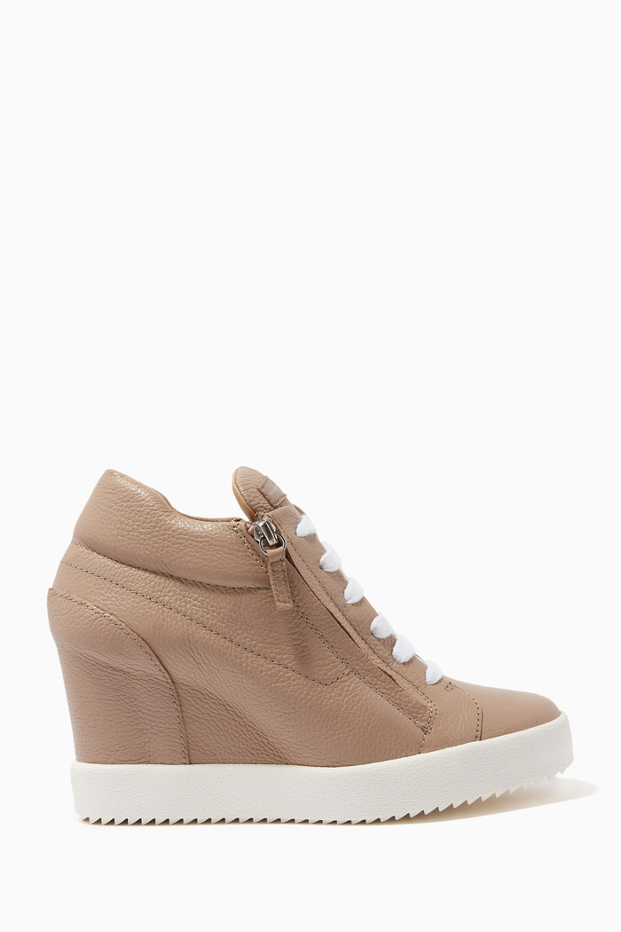 Addy 75 Wedge Sneakers in Leather