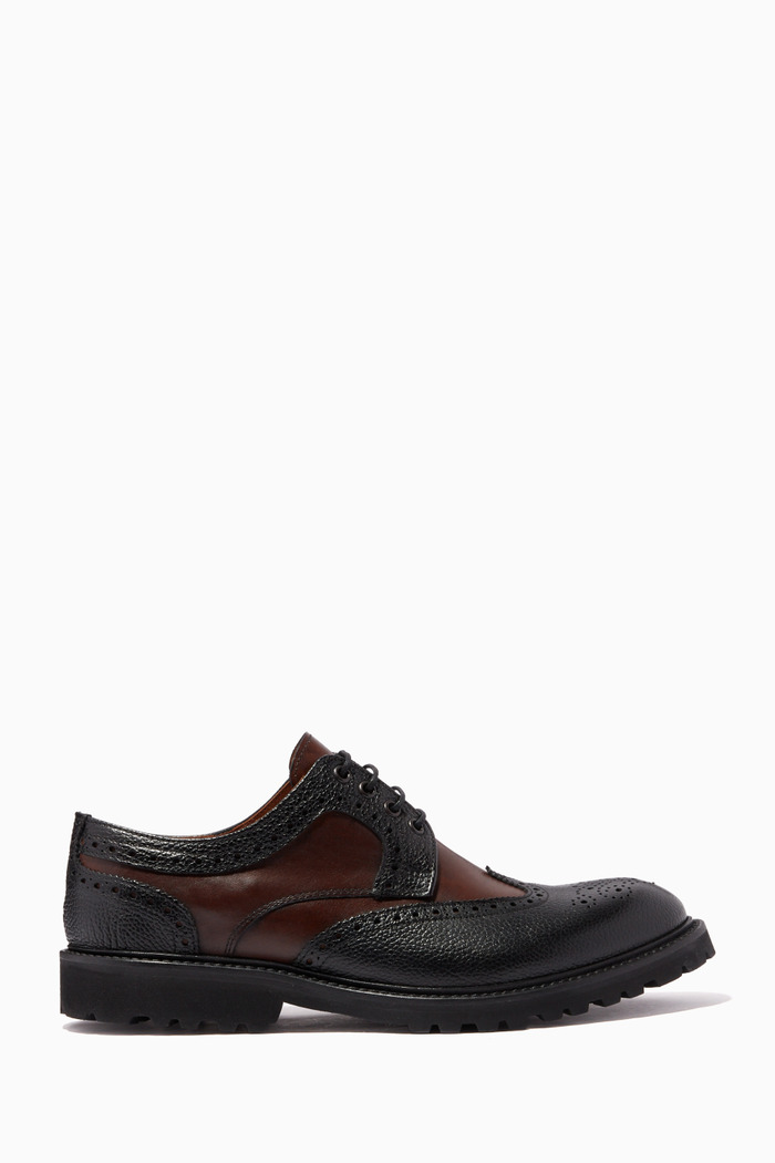 Brogue Oxford Shoes in Leather