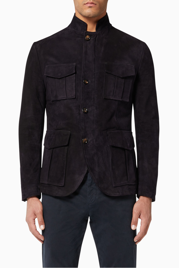 Suede Padded Jacket