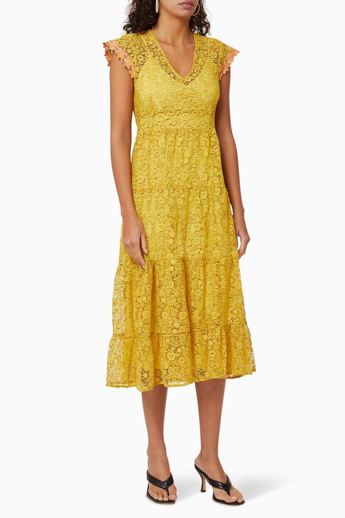 Macramé Lace Midi Dress