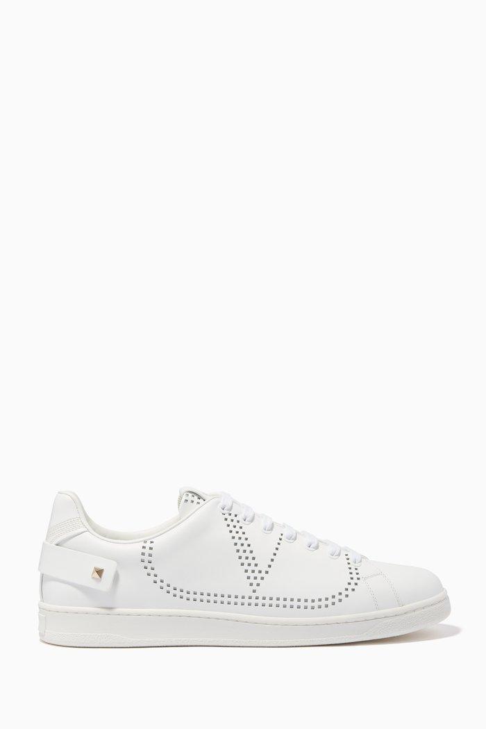 Valentino Garavani VLOGO Backnet Sneakers in Leather