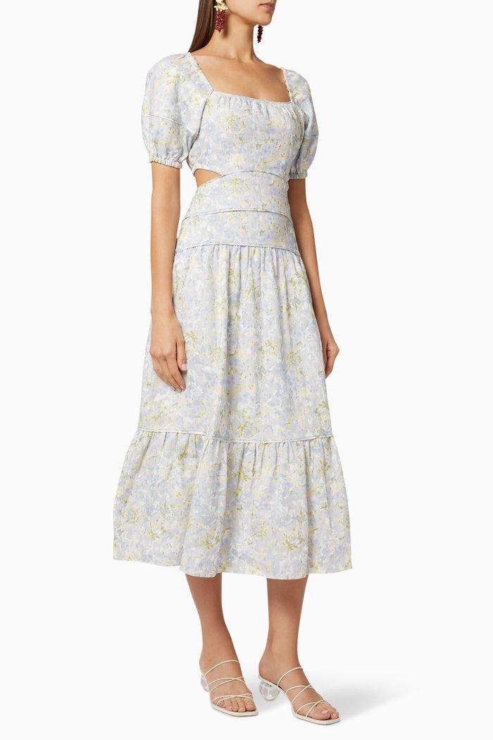 Floral Cut-Out Midi Dress