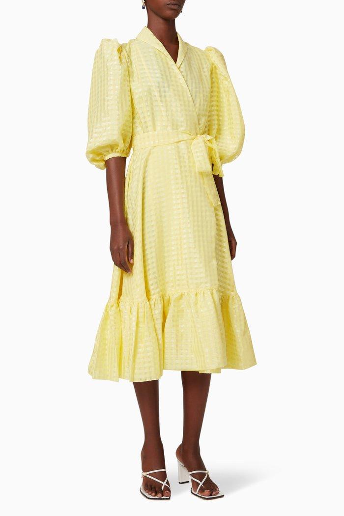 Chinie Gingham Wrap Dress