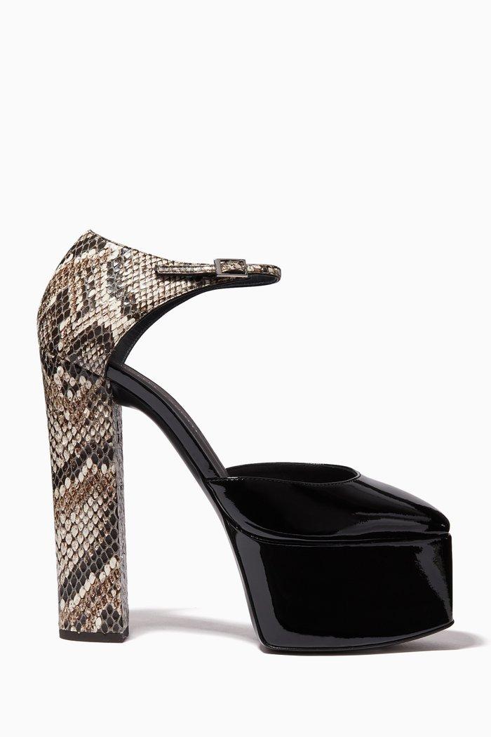 Bebe Platform Sandals in Patent Leather
