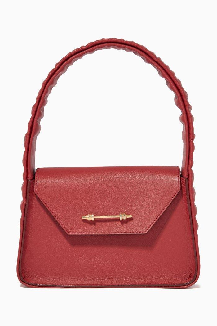 The Feryel Scrunch Handbag in Nappa