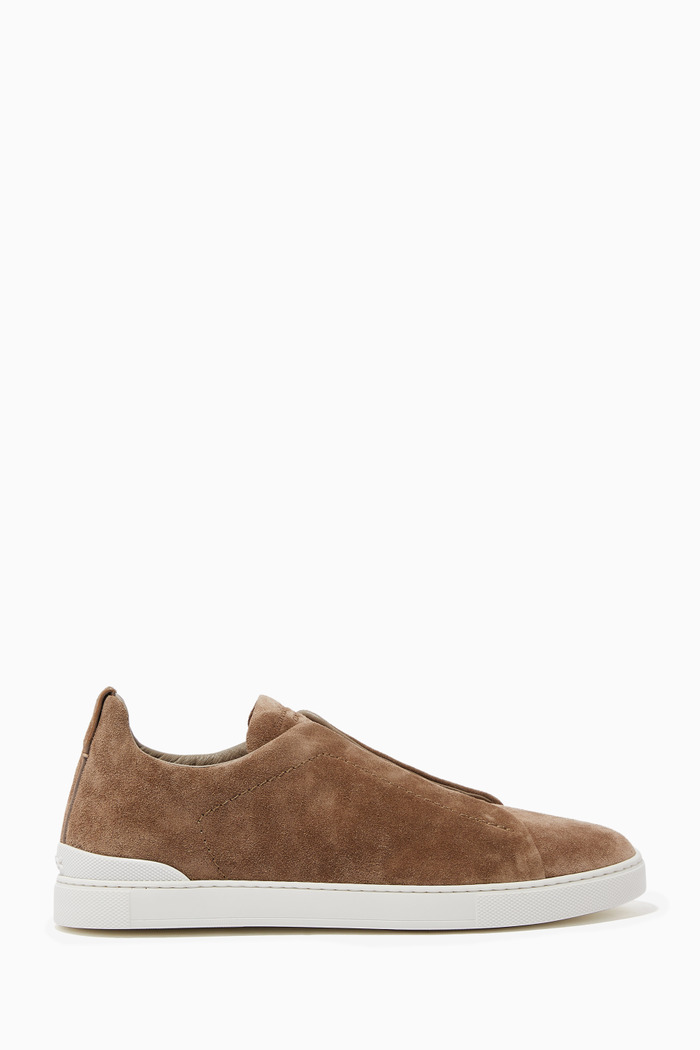 Triple Stitch Sneakers in Suede