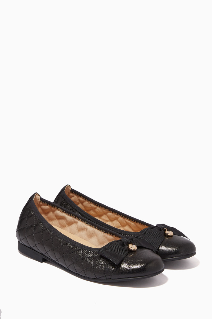 Ballerina Pumps in Quilted Leather