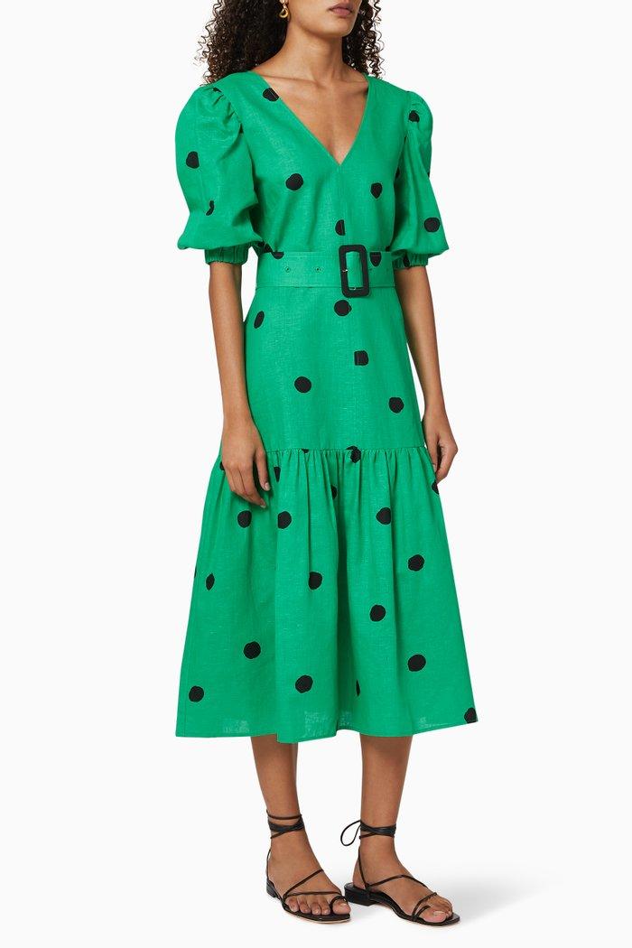Jenny Linen Belted Dress