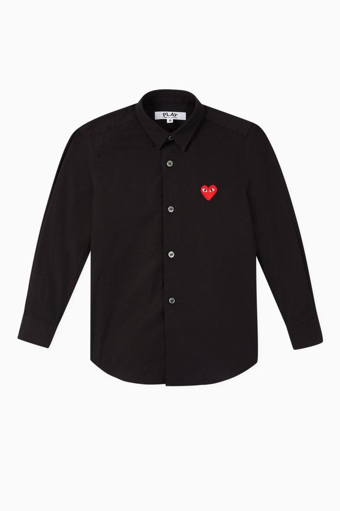 Logo Appliqué Cotton Shirt