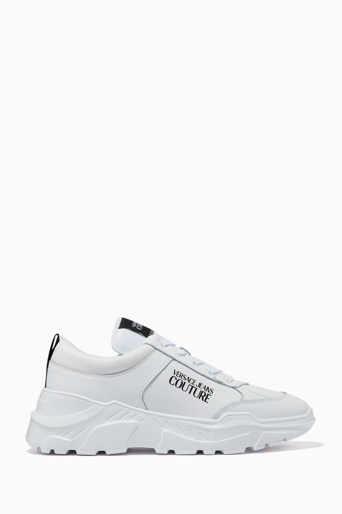 Logo Chunky Sole Sneakers in Leather