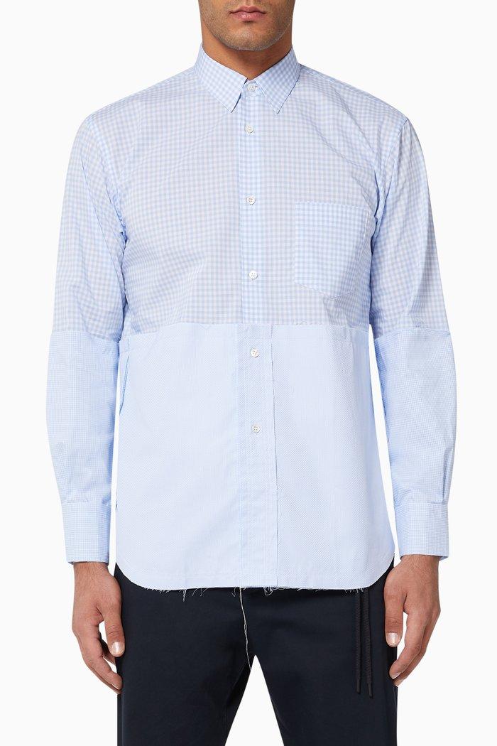 Dobby & Check Cotton Shirt
