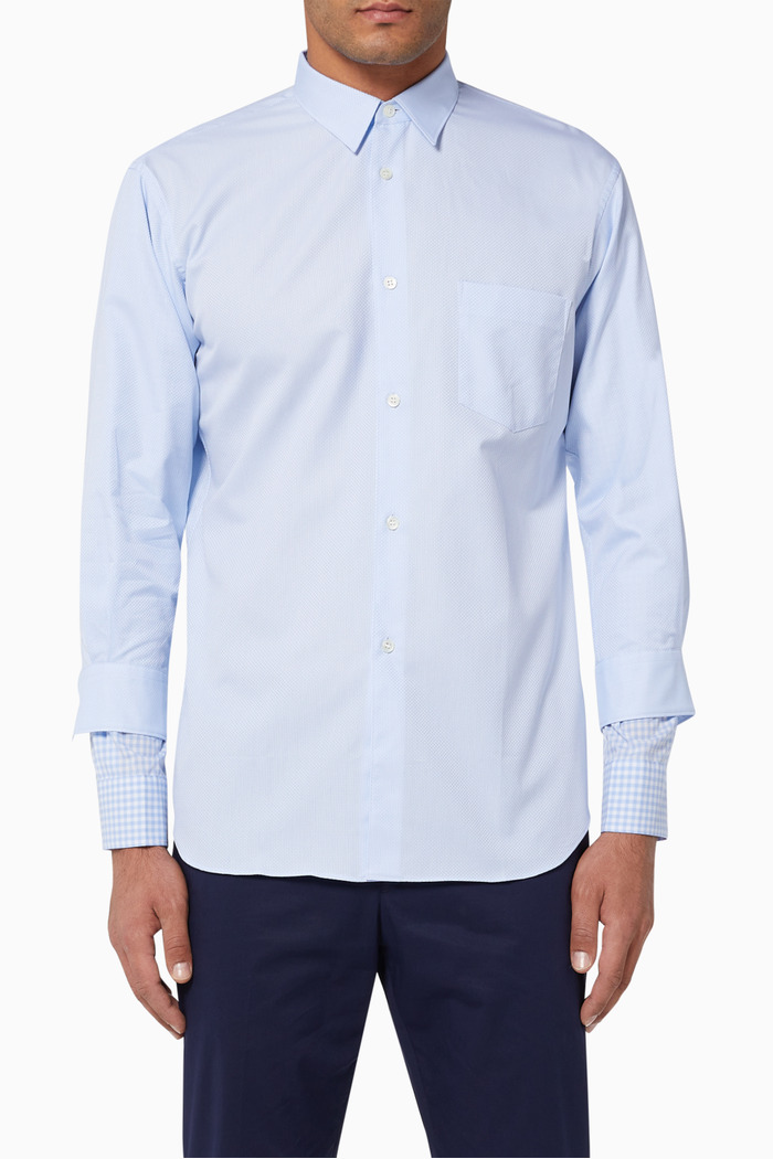 Double Cuff Cotton Dobby Shirt