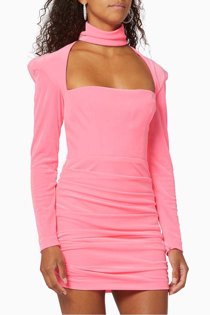 Ashton Ruched Velvet Mini Dress