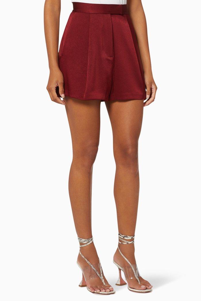 Avery Satin Crepe Shorts