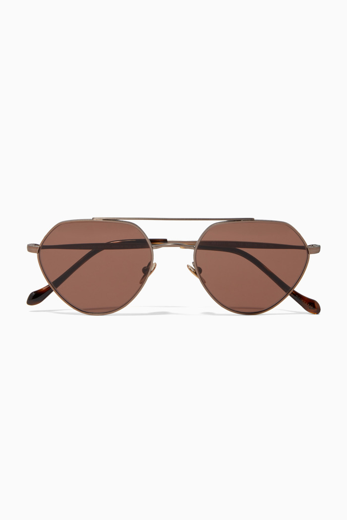 Matte Aviator Sunglasses in Metal