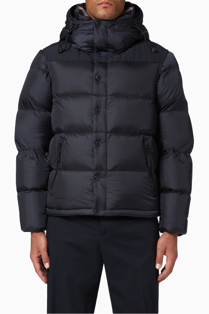 Detachable Sleeve Goose-Filled Puffer Jacket