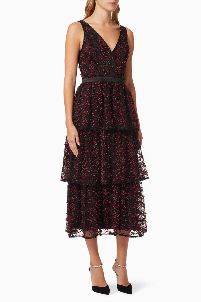 Delightful Embroidered Midi Dress