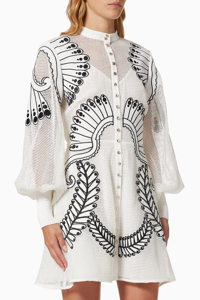 Alchemy Mini Dress in Crochet
