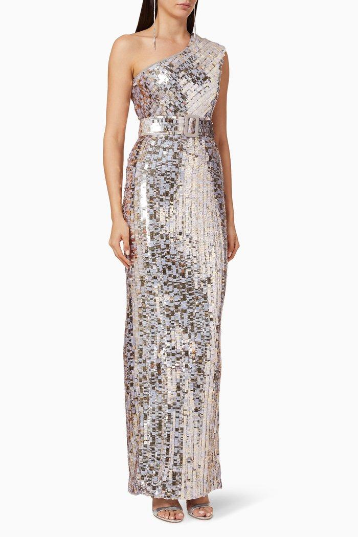 Hunter Sequin Embellished Gown