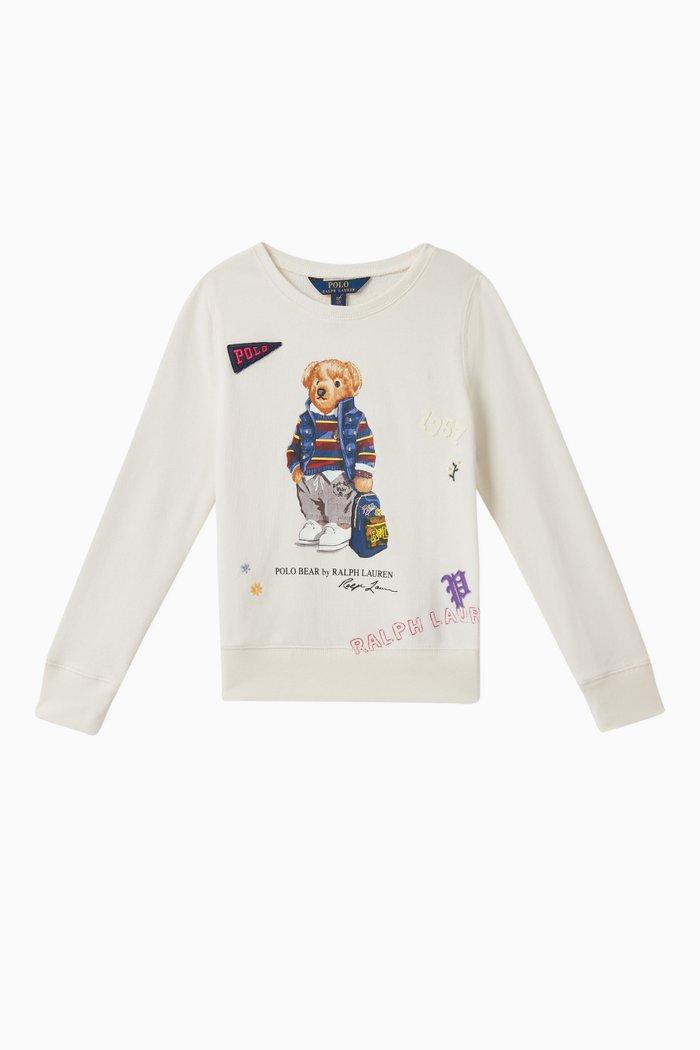 Backpack Bear Jersey Sweatshirt