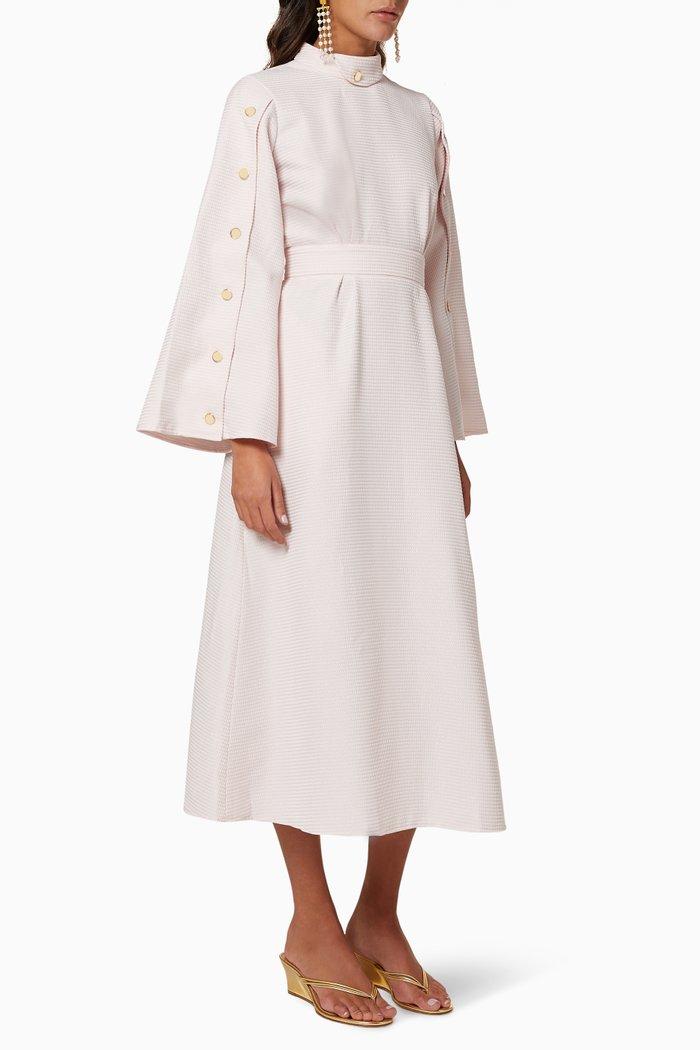 Buttoned Textured Dress