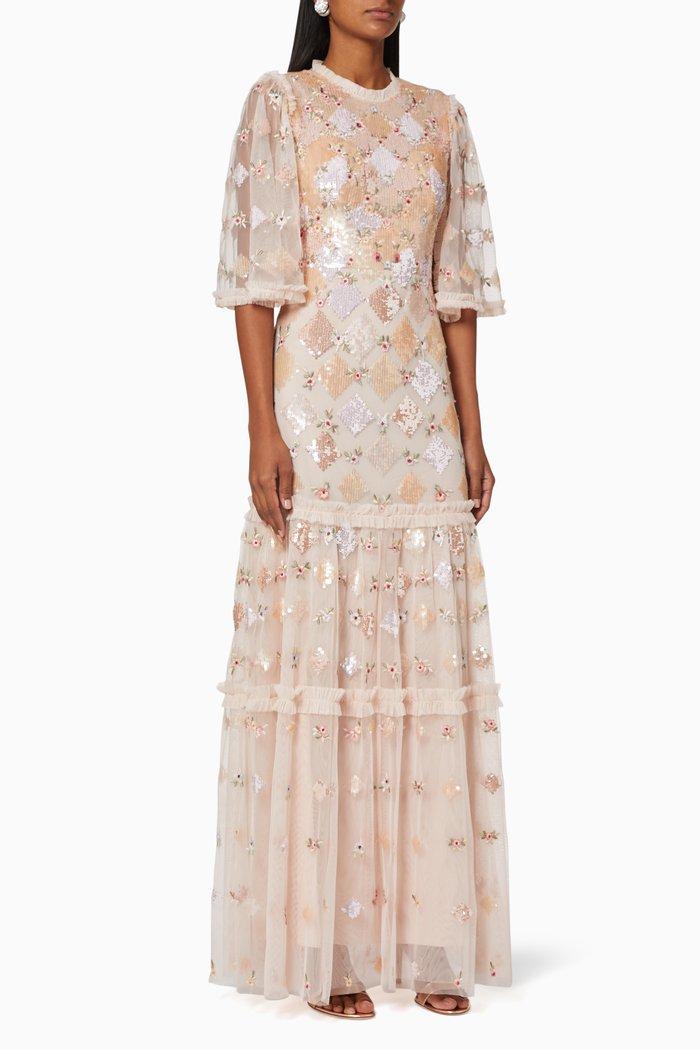 Rose Diamond Tulle Gown