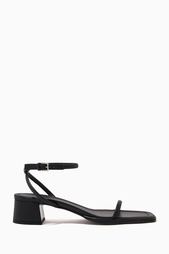 Kate Square Toe Sandals in Leather