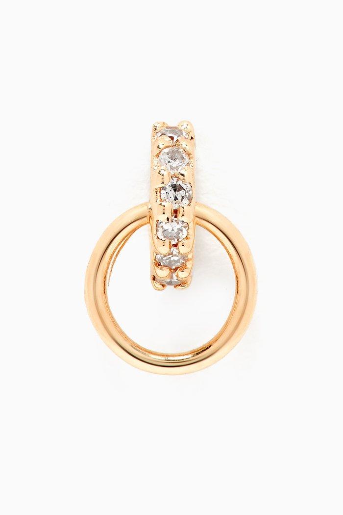 Lila Diamond Hoop Single Stud in 14kt Gold
