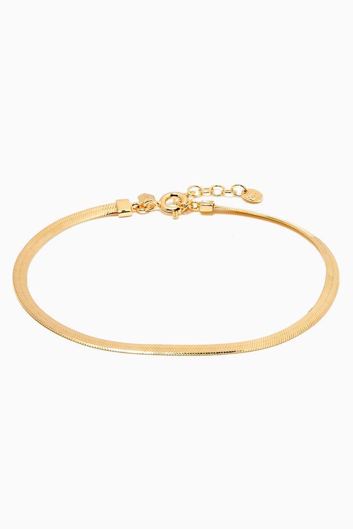 Sentiero Bracelet in Gold Plated Silver