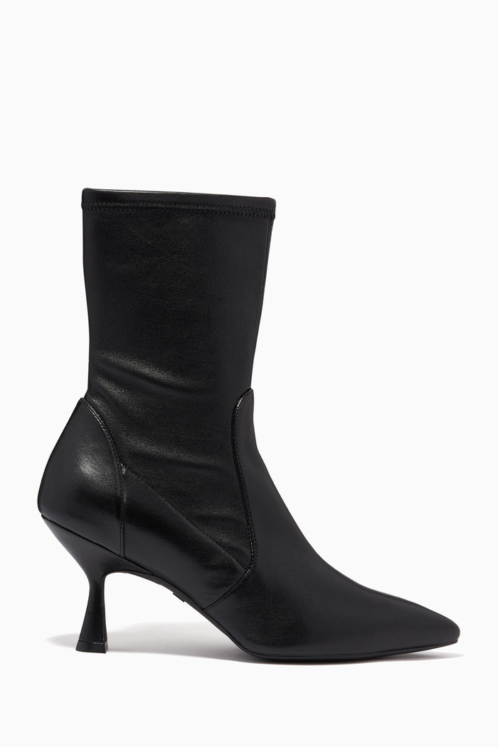 The Muna 75 Booties in Stretch Nappa