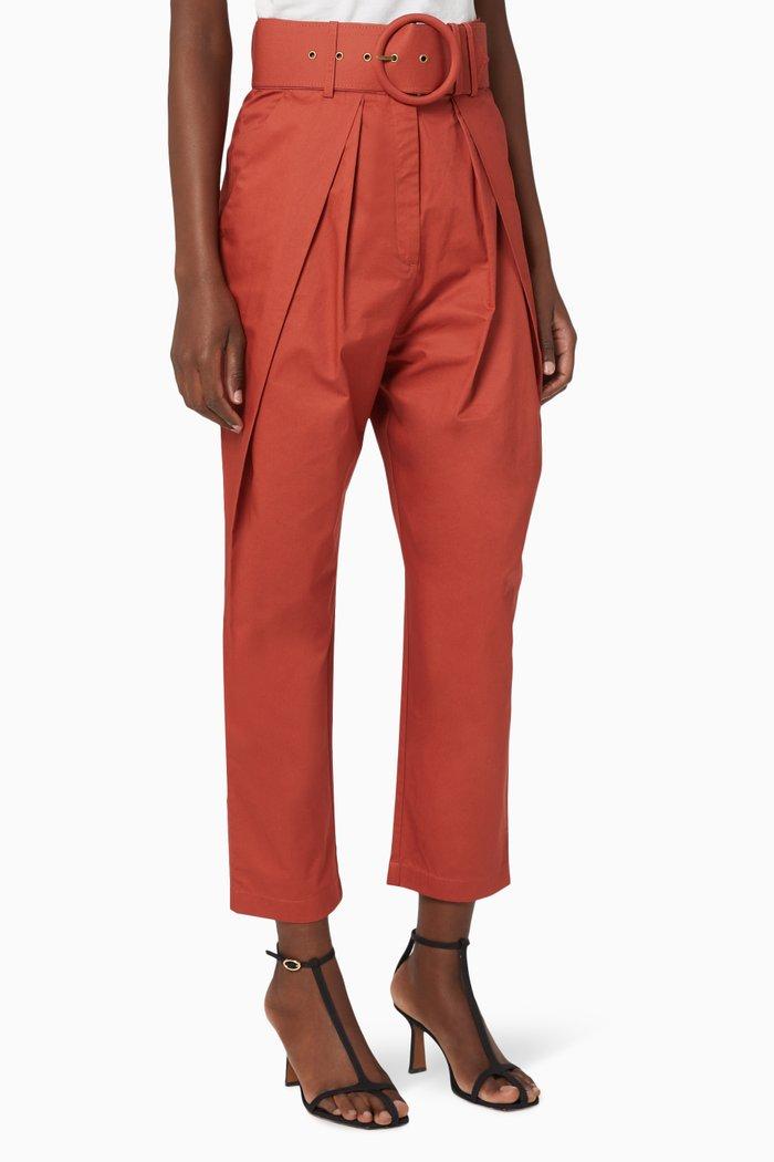 Amaia Cotton High Waisted Pants
