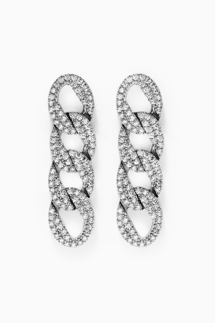 Curb Pavé Chain Earrings