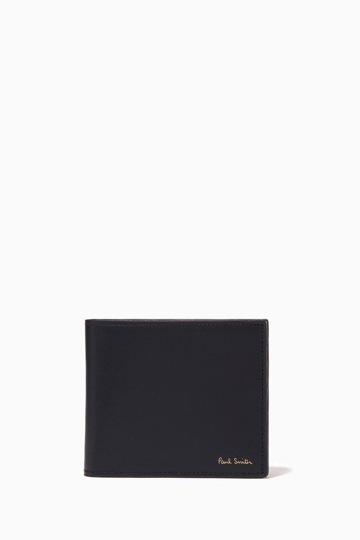 Signature Stripe Billfold Wallet in Leather