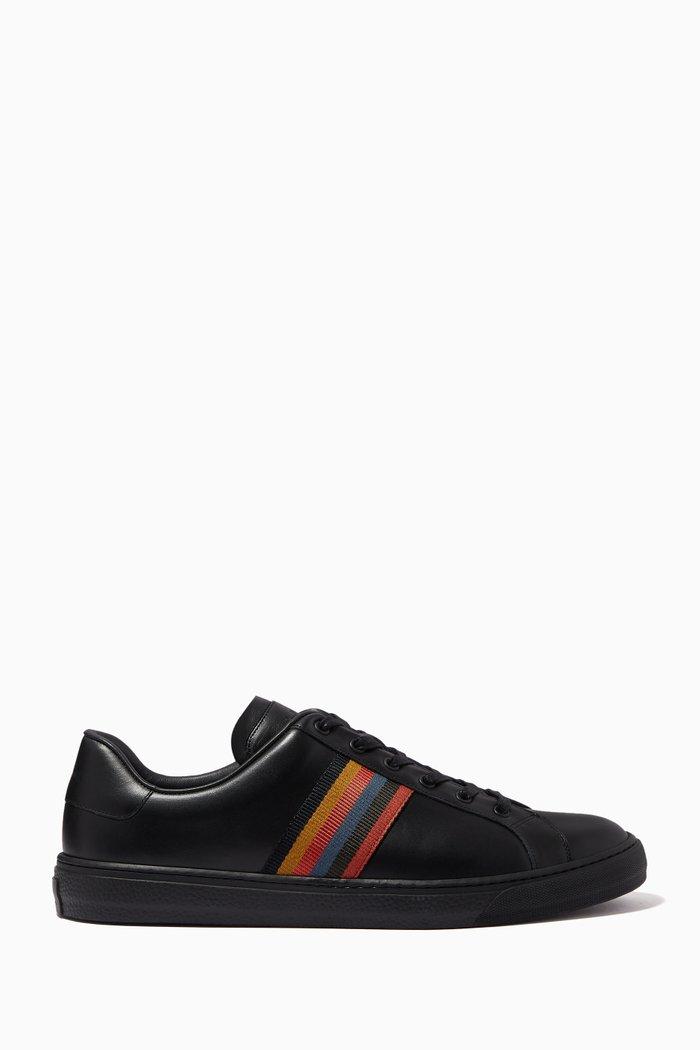 Hansen Artist Stripe Sneakers in Leather