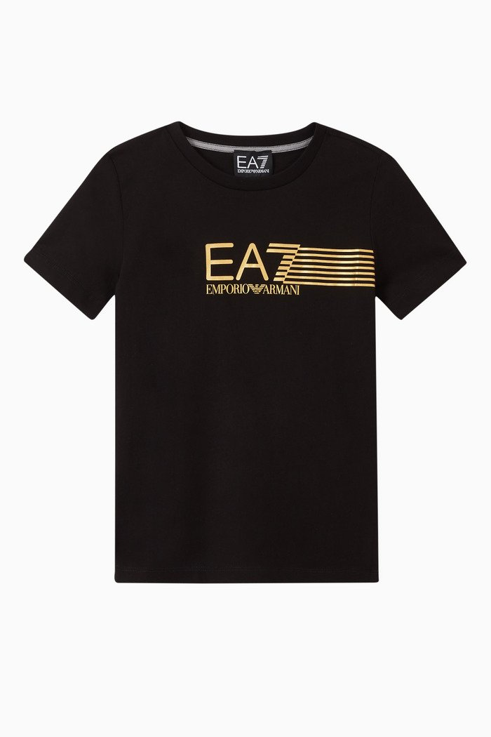 EA7 Striped Jersey T-Shirt