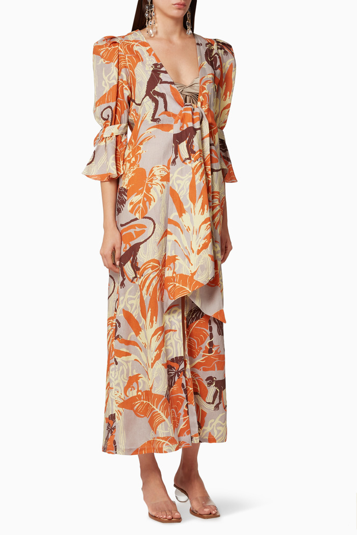 Agua Alta Linen Dress