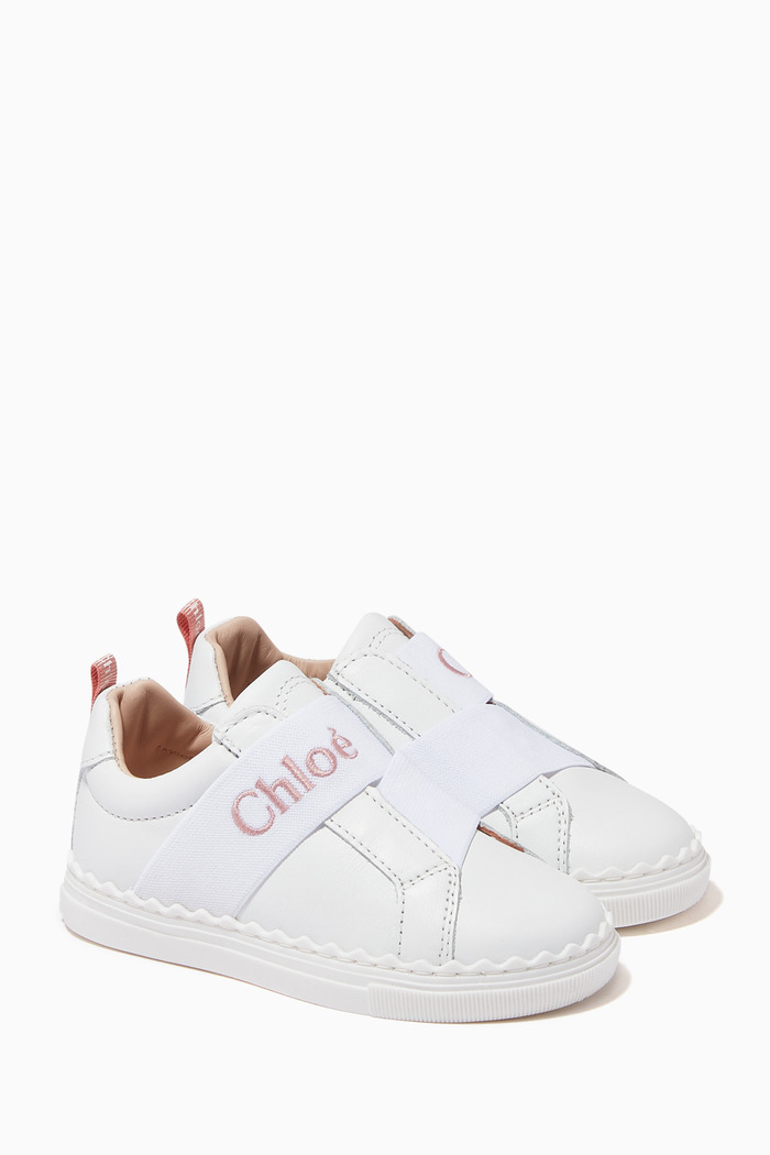 Logo Sneakers in Leather
