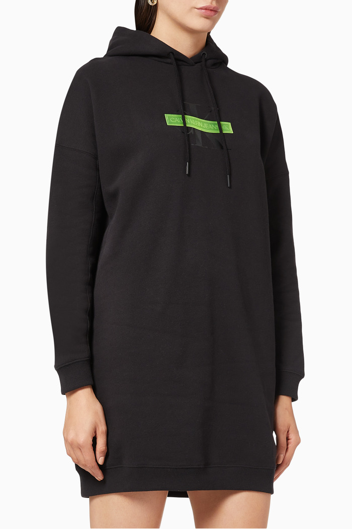 CK Censored Hooded Sweatshirt Dress