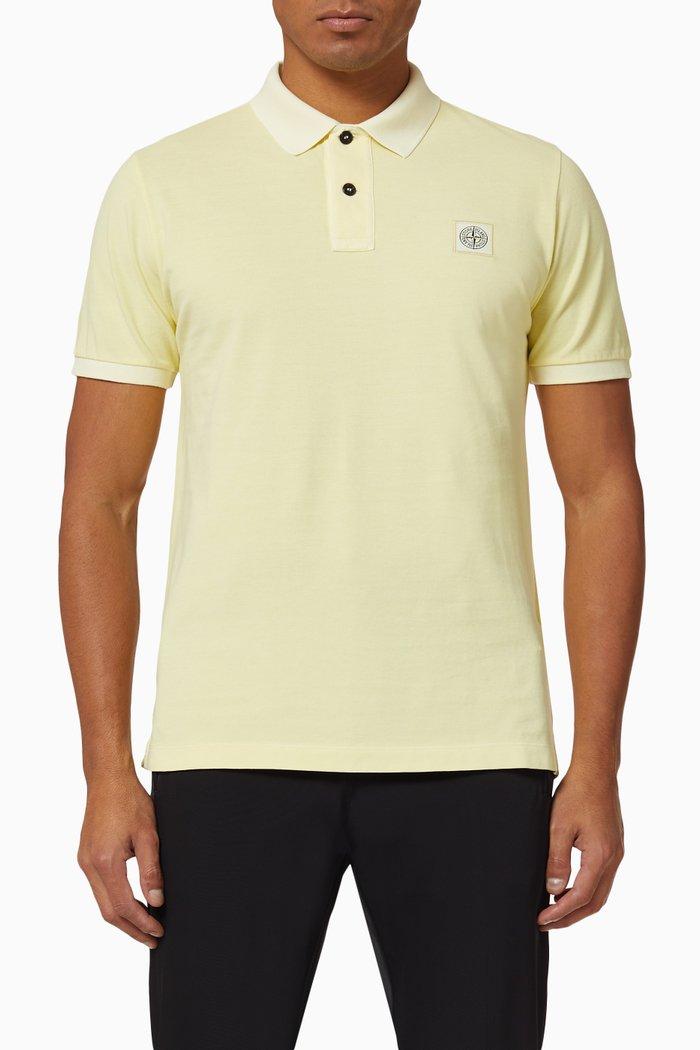 Compass Logo Cotton Polo Shirt