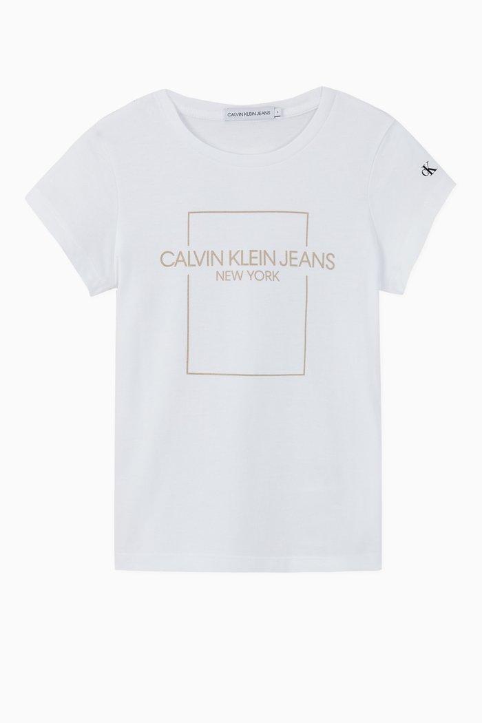 Outline Logo Box Slim Cotton T-Shirt